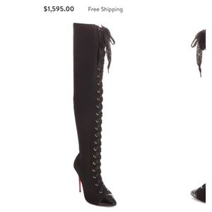 Christian louboutin Frenchie lace up boot